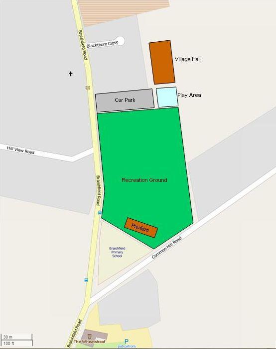 Braishfield Recreation Ground Map